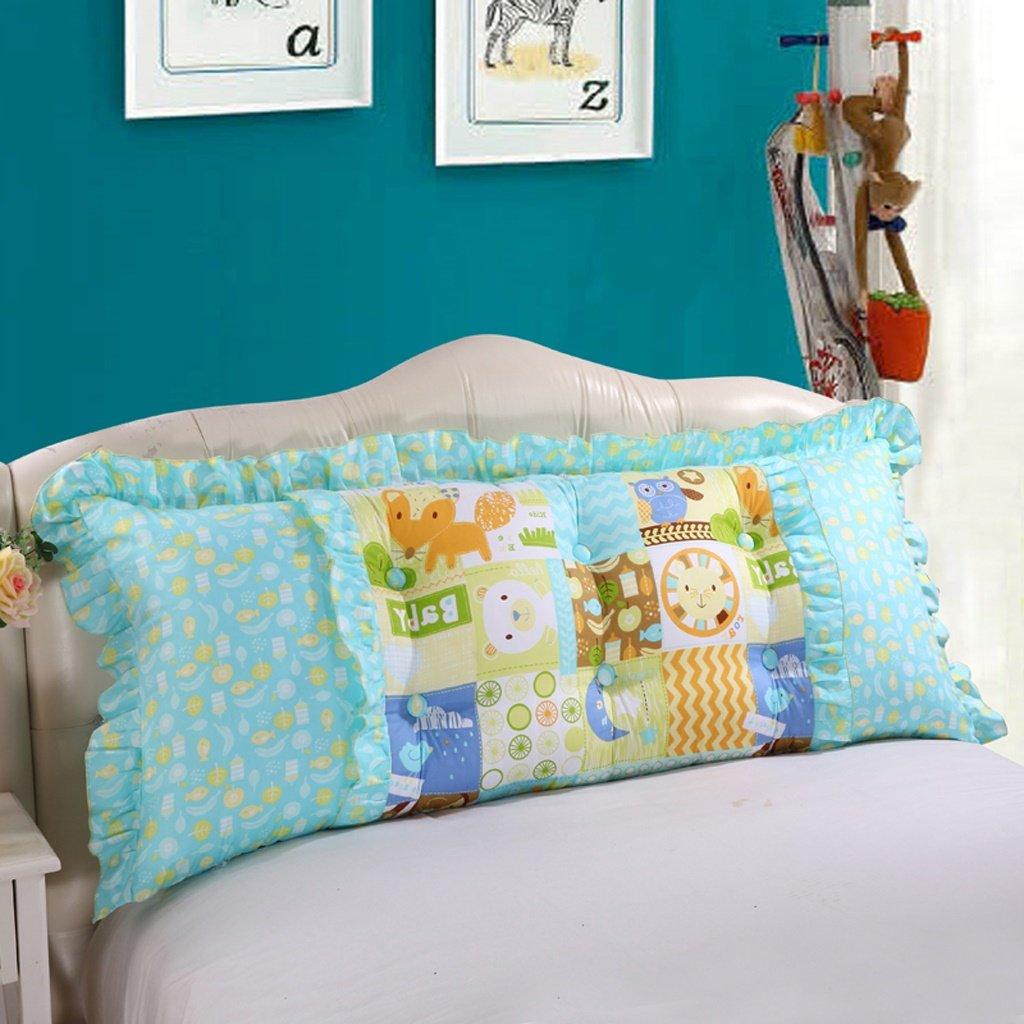 Unbekannt MMM- Kissen Baumwolle Nachttisch Soft Case Sofa Kissen Doppelbett Rückenlehne abnehmbare Taillenschutz Pad (Farbe : #2, größe : 180cm)