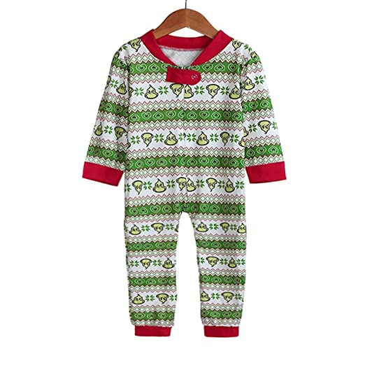 Fiaya Baby Family Matching Xmas Pajamas Set Kid Adult Sleepwear Nightwear(Baby) (2T