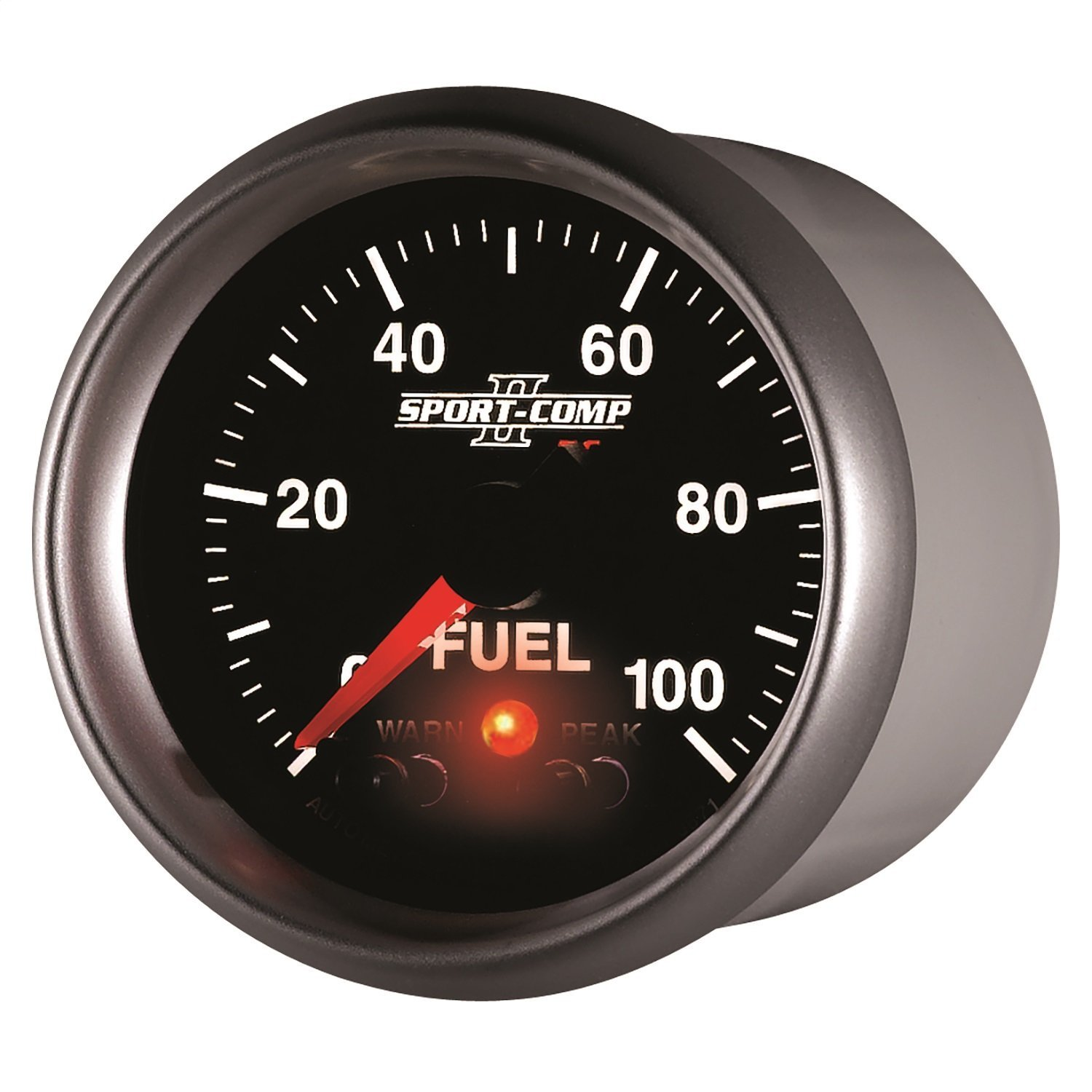 Auto Meter 3671 Sport-Comp II PC 2-1/16' 0-100 PSI Full Sweep Electric Fuel Pressure Gauge Peak and Warn with Electronic Control