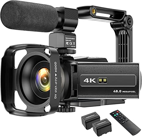 4k Camcorder Videokamera Wifi 48mp Ir Nachtsicht Kamera