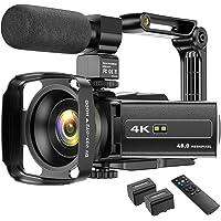 4K camcorder videocamera WIFI 48MP IR nachtzicht vlogging camera, 16 x digitale zoom video-recorder met microfoon…