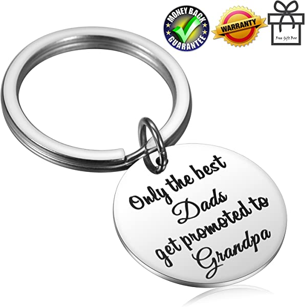 best dads get promoted to grandpa keychain for fathers day birthday or christmas gift for dad grandpa grandfather papa husband