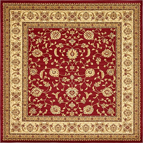 Unique Loom Voyage Collection Traditional Oriental Classic Red Square Rug (10' x ()