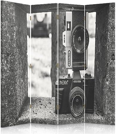 Feeby Frames, biombo Interior, biombo Lienzo, biombo Déco, Barrera de separación, biombo 3 o 4 Paneles, 360 °fábrica, Escalera, Edificio, Ventanas, Color marrón, 2 Faces 145x150 cm: Amazon.es: Hogar
