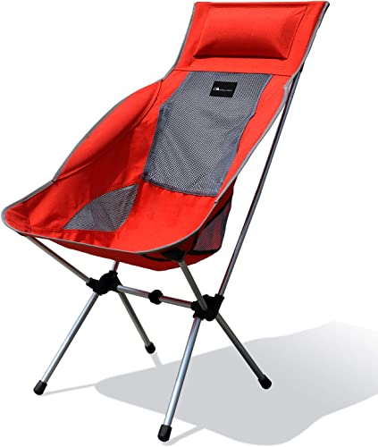 MOON LENCE Compact Ultralight Portable Folding Camping Backpacking Chairs Carry Bag Lounge Chair