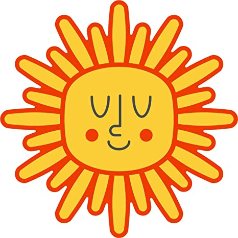 Amazoncom Smiling Yellow Red Flower Sun Symbol Cartoon Emoji Vinyl