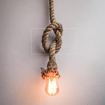 Buy rope vintage lighting for modern homes loft interior rope rope vintage lighting for modern homes loft interior rope lampsrope lights ceiling industrial style aloadofball Images