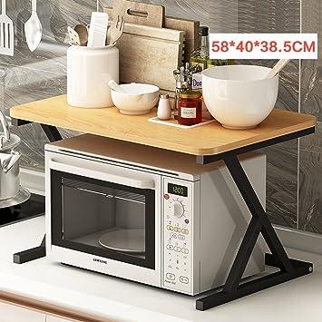 BOBE SHOP- Küche Multifunktionale Regal - Holz Mikrowelle Regal ...