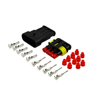 1,50 - 2,50 mm² Rot 4 - Polig AMP Superseal Set Auto LKW Stecker ...