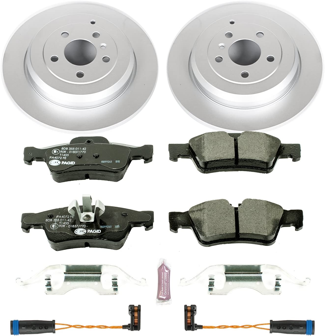 Performance Parts & Accessories Power Stop ESK4638 Rear Euro-Stop ...