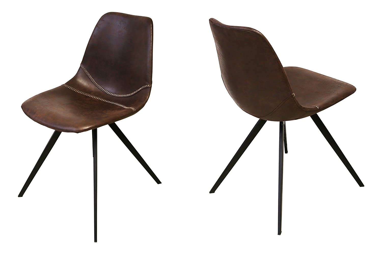 Canett Liva 4er-Set Stuhl dunkeklbraun B49 x T56 x H81 cm