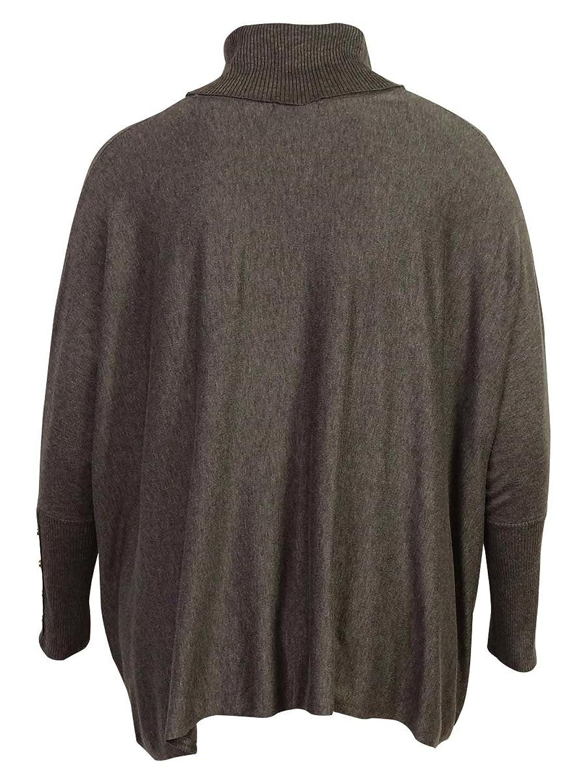 Alfani Womens Plus Heathered Batwing Tunic Sweater