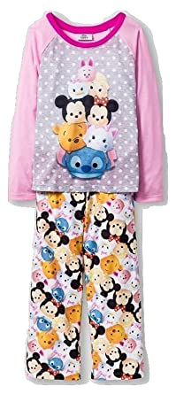0e677e80ea7d Amazon.com  Disney Tsum Tsum Youth Girls 2pc Pajama Set (Small   6 ...