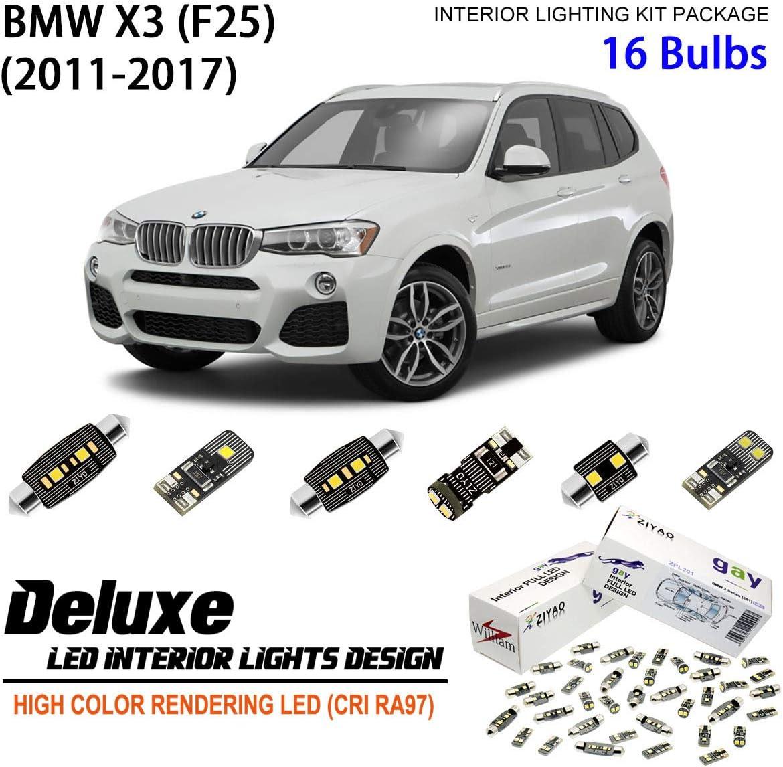 BMW F25 X3 LED INTERIOR KIT PREMIUM 20 SMD WHITE BULBS CANBUS ERROR FREE