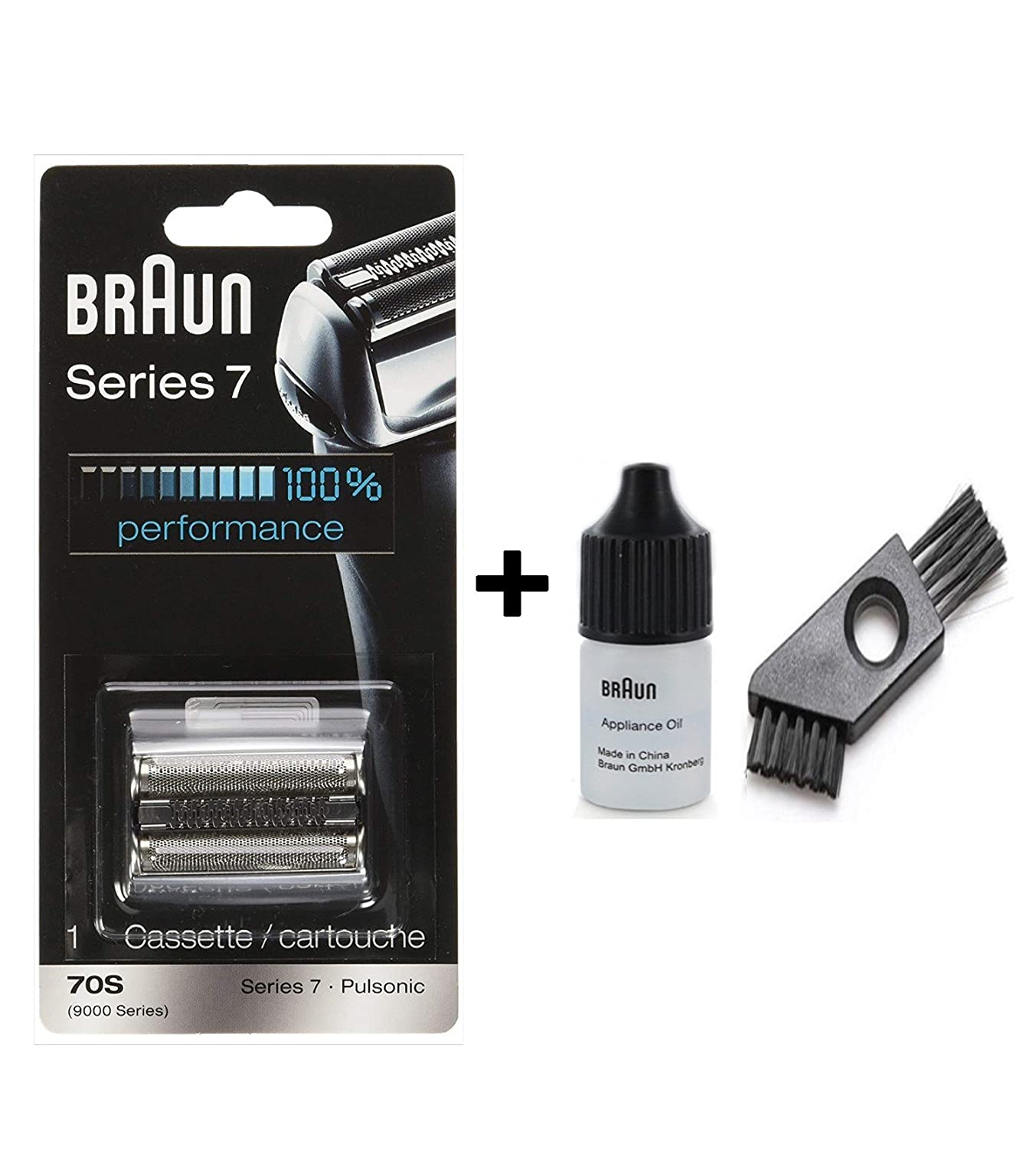 Braun 70S Cassette / 9000 Series 7 with approx. 6cm cleaning brush and oil 7ml