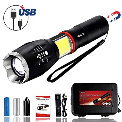 3 Way Led Flashlight Torch Working Light Magnet Magnetic Camping Outdoor Sports Lampe Torche Linterna 18650 With Ac Charger Cheapest Price From Our Site Lights & Lighting Led Flashlights