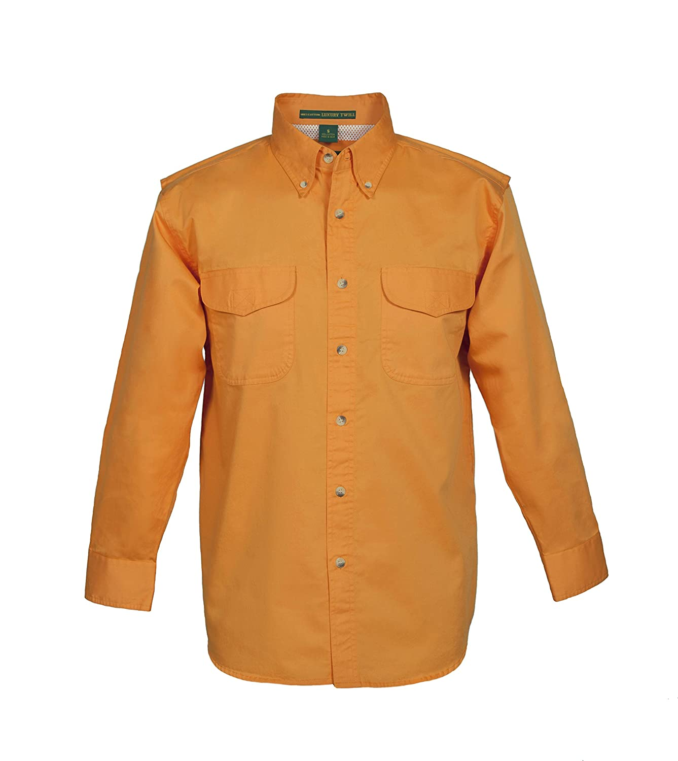 Tiger Hill Mens Vented Back Twill Long Sleeve