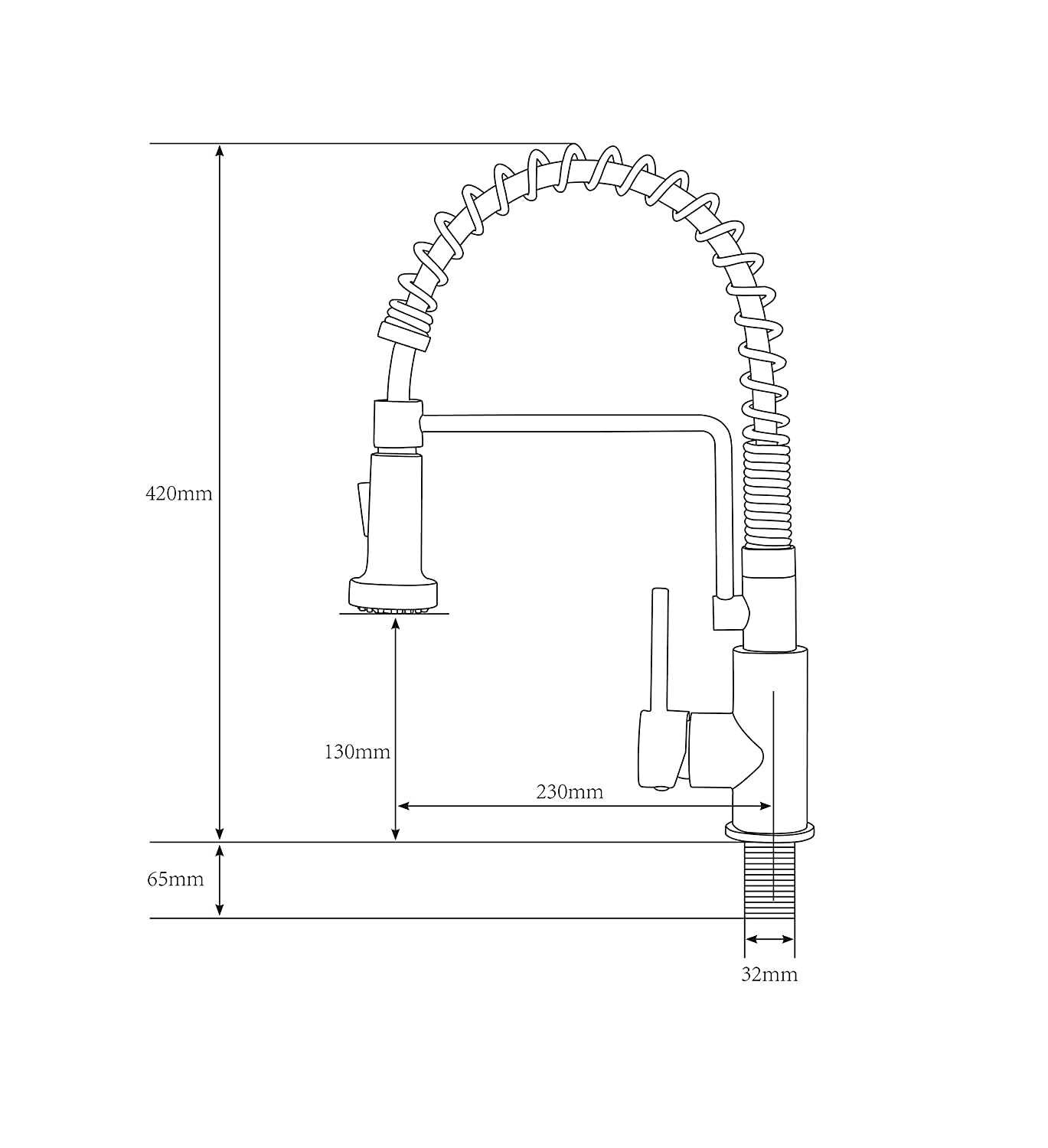 Friho Lead Free Commercial Brushed Nickel Stainless Parts Diagram For Gourmet Single Handle Kitchen Faucet 150 450 Steel Lever Pull Out Down Sprayer Spring Sink