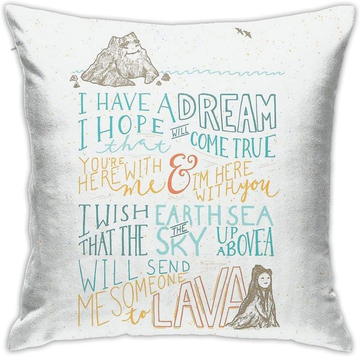 KIILA I Lava You Home Decorative Throw Pillow Cases Sofa Couch Cushion Throw Pillow Covers 18x18 Inch