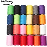 HAITRAL Sewing Thread 24 Colors 1000 Yards Polyester Each Thread Spools For Sewing Machine (HT_SK04)