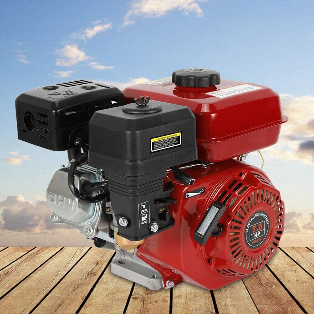 OUKANING Motor de gasolina, 6,5 CV (5,1 kW), motor de 4 tiempos, motor de estacionamiento