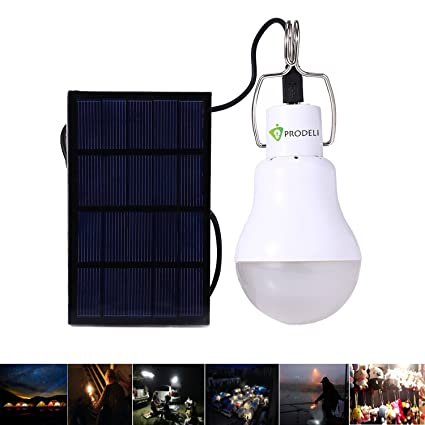 Solar Bulb PRODELI Portable LED Light Rechargeable Solar L& for Indoor Outdoor C&ing Tent Fishing  sc 1 st  Amazon.com & Solar Bulb PRODELI Portable LED Light Rechargeable Solar Lamp for ...