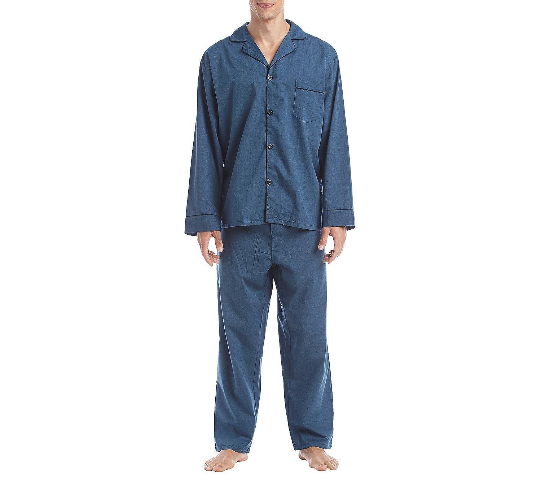 Hanes Big Men's Broadcloth Pajama Set 4016B