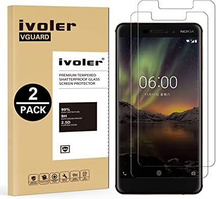 ivoler [2 Unidades] Protector de Pantalla para Nokia 6.1 / Nokia 6 ...