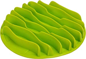 Machao Pet Fun Mat Slow Portable Dog Feeder Bowl,Interactive Bloat Stop Dog Bowl-Anti-Choke Bowl Pet Bowl, Healthy-Green-Small