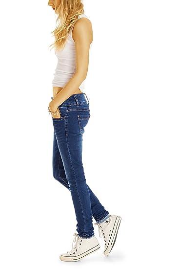 bestyledberlin Damen Skinny Fit Jeans, Basic Röhrenjeans, Schmale Hüftjeans  j44k  Amazon.de  Bekleidung 3b6942f938