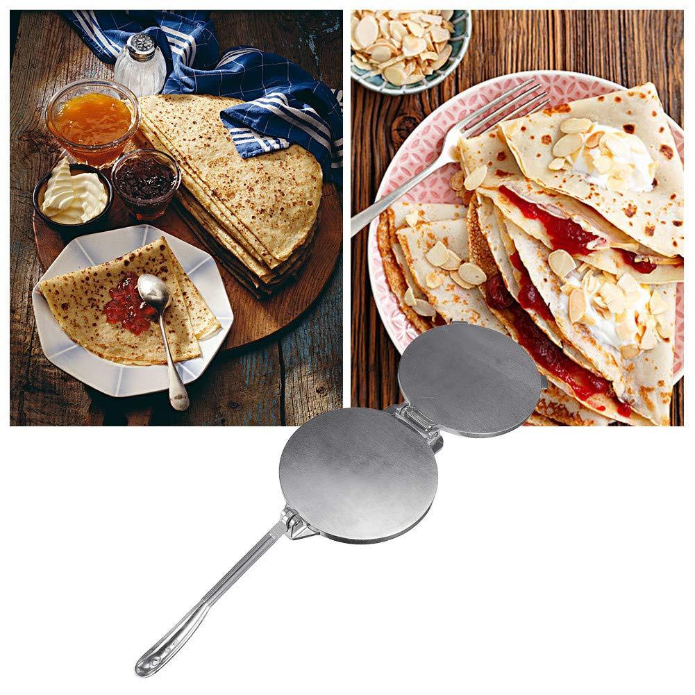 Gedeihen Prensa para Tortillas Maker Aluminio Prensa de Tortilla Estilo Mexicano al Estilo Mundial Sarten para Tortillas 20cm Di/ámetro