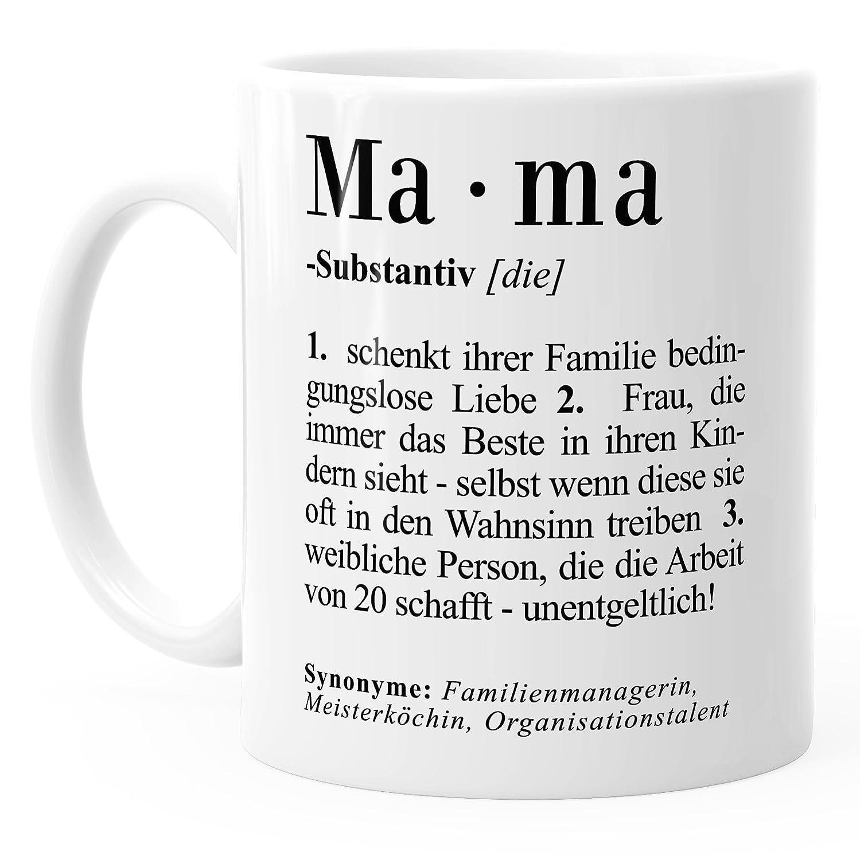 MoonWorks Kaffee-Tasse Mama Definition Dictionary Wörterbuch Duden ...