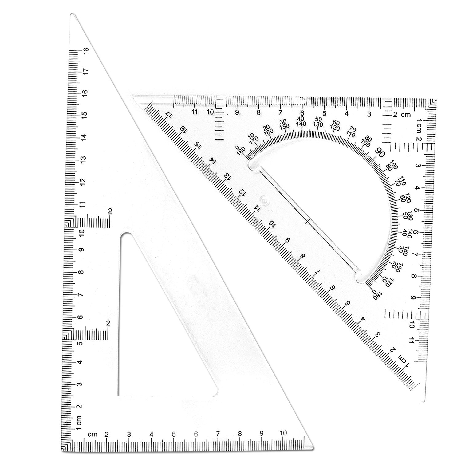 Bronagrand Triangle Ruler Square Set 3060 And 4590 Degrees Set Of 2