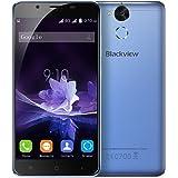 Blackview P2 Smartphone, 5.5 Pollici FHD IPS Display Android 6.0 4G Telefono Cellulari, MT6750T Octa-core 1.5GHz, 4GB RAM + 64GB ROM, 13.0MP+8.0MP Camera, Dual Sim, 6000mAh Batteria WiFi Hotkont GPS OTG Cellulare - Blu