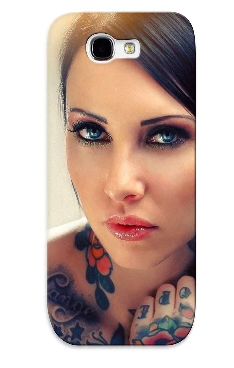 Amazon.com: New Cute Funny Glam Gothic Tatoo Face Eyes Pov Women Models Sexy  Babes Case Cover/ Galaxy Note 2 Case Cover For Lovers: Cell Phones & ...