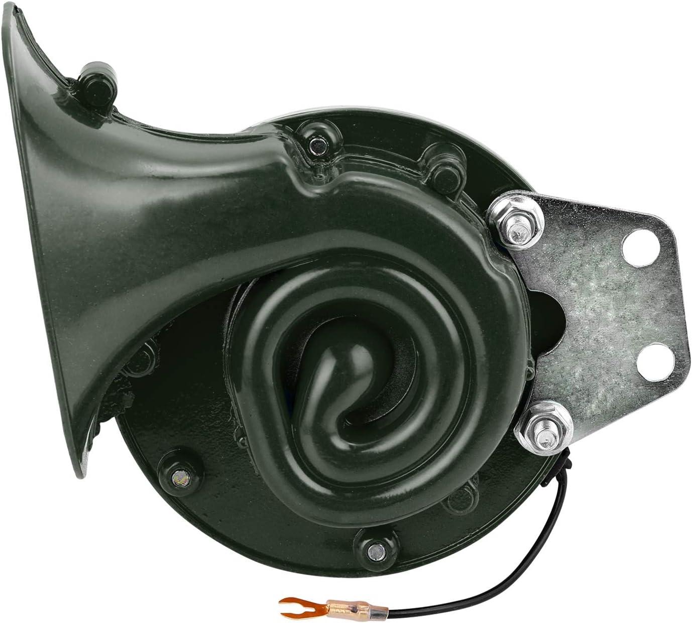 Carrfan Lautes 300DB 12V elektrisches Schneckenhorn Lufthorn rasender Ton f/ür Auto Motorrad LKW-Bootskran