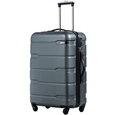 COOLIFE Luggage Expandable(only 28 ) Suitcase PC+ABS Spinner Built-in TSA Lock 20in 24in 28in Carry on