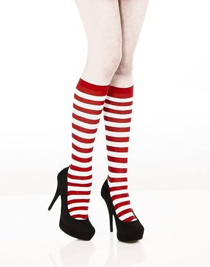 b4889946f09 Amazon.com  Forum Novelties Women s Novelty Red Striped Knee Socks ...