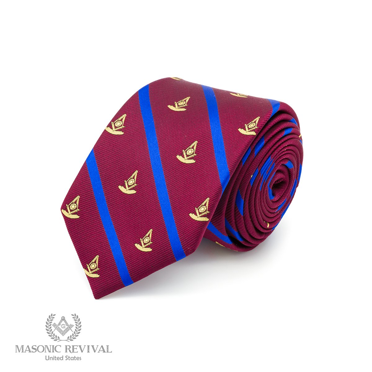 The Regal Past Master Necktie by Masonic Revival