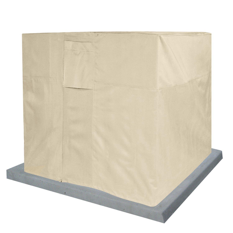 KHOMO GEAR - Air Conditioner Cover Square - AC Outdoor Protector - Sahara Series - Beige B06WV8JNY7