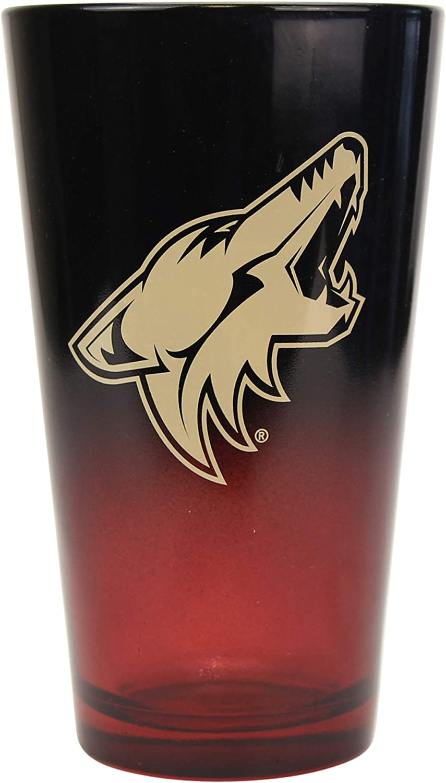 Arizona Coyotes 2-Tone Pint Glass Set NHL 16 oz