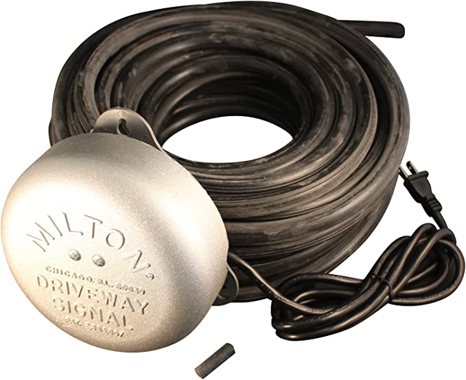 Driveway Service Gas Station Signal Bell with 100/' of Hose /& Hose End Anchor-NEW