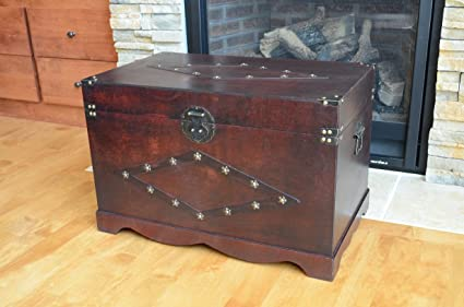Amazon.com: Jamestown Chest Wooden Steamer Trunk - Large Trunk ... on golf carts for disabled, golf carts for fire depts, golf carts vehicle,