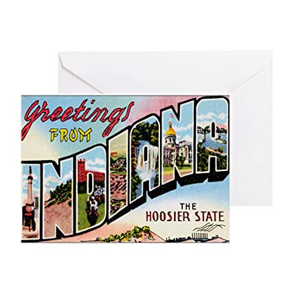 Amazon Cafepress Indiana Postcard Greeting Card Note Card