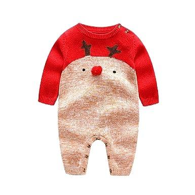 67f17ad4e Amazon.com  ANDYOU-Baby Toddler Fall Winter Reindeer Christmas ...