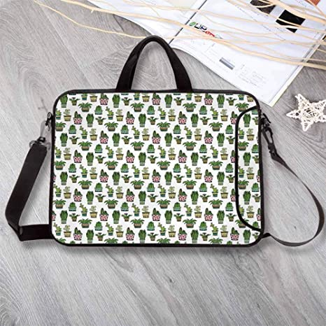 d617224c50b1 Amazon.com: Cactus Decor Waterproof Neoprene Laptop Bag,Colorful ...