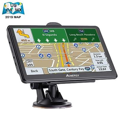 GPS Navigation for Car,7 inch Touch Screen 8GB&256MB GPS Navigation System,Spoken Turn- to-Turn Traffic Alert Vehicle Car GPS Navigator,Lifetime Free Map Updates: GPS & Navigation