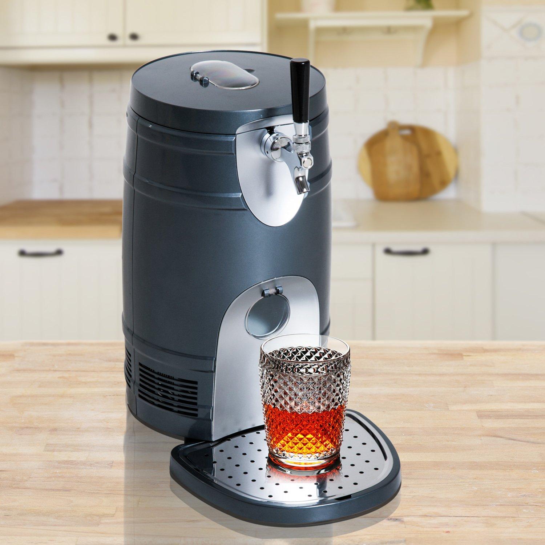 HOMCOM 5 Liter Mini Kegerator Beer Cooler Dispenser Portable -Black by HOMCOM (Image #2)