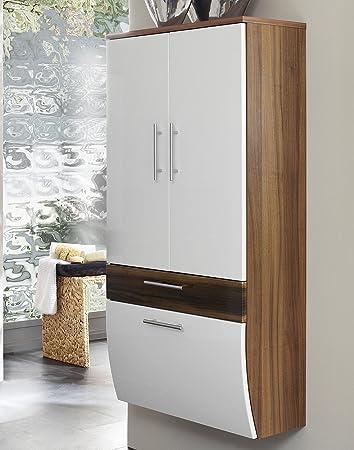 badmöbel hochschrank toronto in hochglanz weiss: amazon.de: küche ... - Küche Toronto