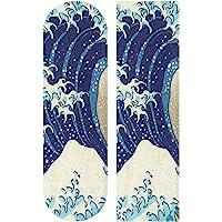 """FENNEN Blue Sea Wave Monster Skateboard Grip Tape Sheets Graphic Longboard Griptape Bubble Free Anti-Slip 33""""X 9"""" Tapes…"""
